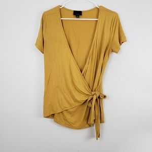!SALE 5 FOR $25! Lumiere Front Wrap Tie Blouse